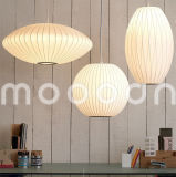 Europa do Norte Moderna Decorativa Handmade Fancy White Silk Skin Lanterna Cocoon Pendant Light