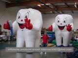 Dente gonfiabile grande di pubblicità esterna e replica di modello della spazzola