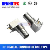 Connecteur coaxial femelle en alliage de zinc de support de carte de BNC