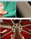 태양 가벼운 안뜰 우산은 10를 ' 거는 옥외 시장 우산 오프셋했다