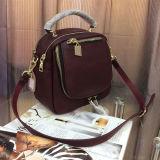Sacchetti di spalla di disegno di Colore-Collsion della borsa di modo dello zaino del cuoio genuino per la signora Emg4956