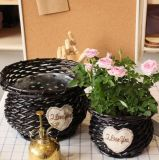 (BC-WF1017) 순수한 Handmade 자연적인 고리 버들 세공 꽃 바구니