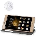 в случай бумажника кожи стойки случая Flip почетности 8 Huawei кожаный