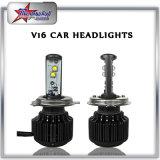 Fabricação de farol LED para carro universal, farol frontal H4, farol duplo e feixe duplo com ventilador