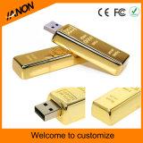사업 최신 판매를 위한 황금 바 USB 섬광 드라이브