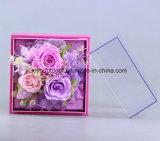 Flor hecha a mano preservada de Rose de la flor
