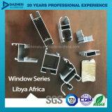 Profil en aluminium de vente d'usine de bonne qualité pour la porte de guichet du marché de la Libye