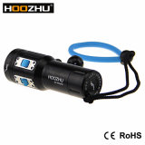 Hoozhu V13 2600 máximos Lm Waterproof a tocha do mergulho de 100m com luz de cinco cores para o vídeo do mergulho