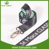 Design Custom Two Layers Satin Ribbon Lanyard
