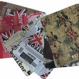 のどハンド・バッグ、ソファーのための革によって印刷されるPVC PUの革