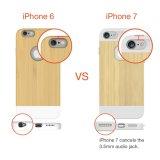 iPhoneのための2016年の性質シリーズシリコーンの細い木製の保護箱