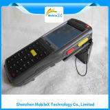 Coletor de dados com varredor do código de barras, RFID, impressão digital