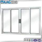 Modèle de la porte As2047 principale avec double Windows glacé et la porte coulissante en aluminium de portes