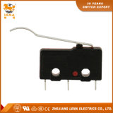 Interruptor diminuto da alavanca Kw12-61 curvada longa preta e vermelha de Lema micro