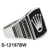 925 de echte Zilveren Fabriek Hotsale van de Ringen van de Mensen van Juwelen Zilveren