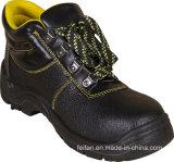 De professionele Spleet In reliëf gemaakte Schoenen van de Veiligheid van het Leer, Hoge Enkel