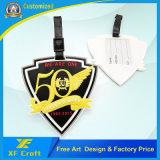 Оптовая изготовленный на заказ мягкая бирка мешка перемещения PVC/бирка/металл перемещения бирка удостоверения личности названная ключевая (XF-LT08)