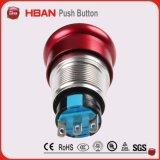 19mm à prova de água vermelho paragem de emergência botão interruptor