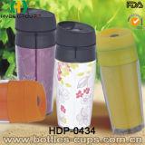 350ml BPA освобождают пластичную чашку Thermos, подгонянную двойную кружку перемещения стены (HDP-0434)