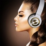Bluetooth drahtlose Kopfhörer mit Inline-Mikrofon- Schwarzes/Weiß