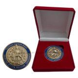 Personifizierte Marine-Münze mit Samt-Kasten-Verpackung