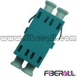 de Duplex Optische Adapter van mm LC voor Om3 het Plastiek van Aqua van de Vezel