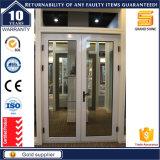 Portes françaises de Lowes d'entrée en verre en aluminium extérieures