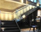 안전 강화 유리 스테인리스 죔쇠에 있는 계단 방책