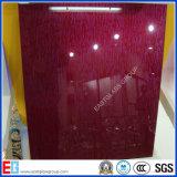 Пурпуров-Красное прокатанное стекло /Building/Furnture