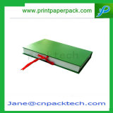 Rectángulo de empaquetado plegable práctico de encargo del regalo de las cajas de embalaje del libro de papel de la pluma