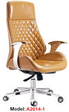 高いバックオフィスの家具の革木製の管理の主任の椅子(A2014-1)