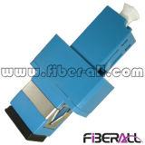 LC al azul plástico a una cara óptico híbrido del adaptador de fibra del Sc