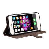 Caixa do couro da ranhura para cartão do telefone móvel para o iPhone 7 7plus