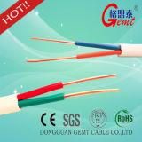 Câble de cuivre pur flexible de solide plat de vente chaude