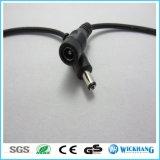 La torcedura de los pares en luz del alambre LED del cable de la C.C. elimina la cámara del CCTV del conector femenino y masculino