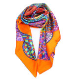 Способ покрасил шарф Crinkle шелка 100% длинний