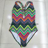 Сексуальный черный Beachwear Monokini Swimwear Бикини для повелительницы, цельного костюма заплывания