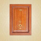 現代白いヨーロッパ式の木の食器棚のドアデザイン