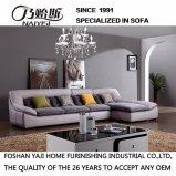 Sofá secional do projeto moderno com tela de Flannelette da alta qualidade para a mobília da sala de visitas - Fb1137