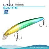 Angler auserwähltes 3D mustert den Stock-Köder, der fischt flachen Köder mit Vmc dreifachen Haken (SSB150812)