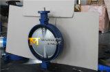 Válvula de mariposa de goma concéntrica de la oblea del asiento de D de la pista doble del vástago