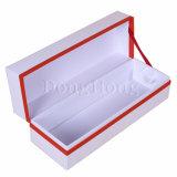 Contenitore di lusso di vetro impaccante magnetico di carta di vino della perla singolo