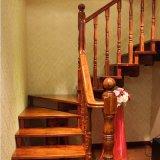 Винтовая лестница самомоднейшей конструкции крытая деревянная (GSP16-007)
