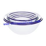 エナメルボールのデザート用深皿のヌードルボールの円形の弓;
