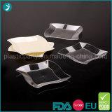 Tableware партии PS ясности/прозрачной/белой пластмассы цвета устранимый