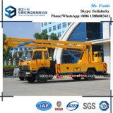 Dongfeng carro de trabajo aéreo articulado hidráulico de 20 auges del contador