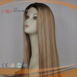 Colorful Beautiful Omber Style Seda Top Técnica mais clara Pele branca Top Lace Front Jewish Kosher Wig