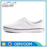 Оптовые изготовленный на заказ чисто белые ботинки белизны Unseix способа ботинок холстины