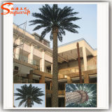 Albero artificiale di plastica della palma da datteri della decorazione all'ingrosso dell'hotel di Ome