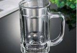 375ml alta calidad, arriba claro, taza del vidrio de cerveza con la taza de la maneta, del agua o del vidrio del té